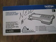 Genuine BROTHER  TN-420 Black Toner Cartridge, Brand New,