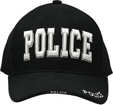 POLICE Law Enforcement Baseball Cap Adjustable Black Raised Embroidery Hat 9383