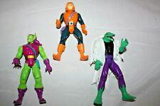 1994 Toybiz Marvel Spiderman Animate Series Lot: Green Goblin, Hobgoblin, Lizard