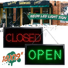 OPEN/CLOSED LED Sign Neon Light Sign with Flashing for Business Bar Store