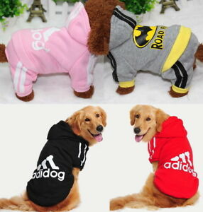 Adidog Puppy Small-Large Pet Dog Cat Winter Clothes Shirt Jacket Hoodie Jumpsuit