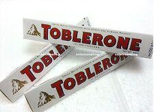 TRACKING NO ^ 3 x Toblerone Swiss White Chocolate Honey Almond Nougat 100g snack