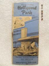 Rare Hollywood Park Program Nov. 1, 1944 War Charities Meeting Won by Civil Code