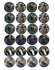 EDIBLE CAKE IMAGE -WALKING DEAD ZOMBIE'S - 24 CUPCAKE TOPPERS