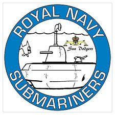 """RN Royal Navy Submariners """"Sun Dodgers"""" specific Sticker"""