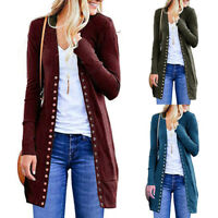 Winter Women Knitted Sweater Long Sleeve Cardigan Knitwear Jumper Coat Jacket US