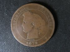 10 centimes 1872 A France KM#815.1 Bronze coin 10c cents