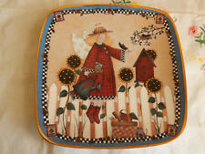 Sunflower Angel Plate Debbie Mumm