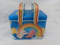 Care Bears Metal Tin Container Storage Pail Box 1982