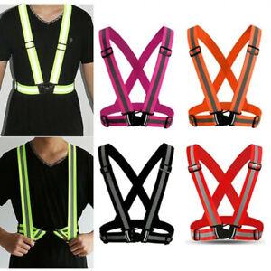 AdjustableSafety Night Running Stripe StrapFluorescent StrapReflectiveVest Belt,