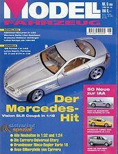 Modell Fahrzeug 1999 6/99 Magazin Mercedes SLR Lotus Esprit turbo Europa 993 PKW