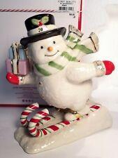 Lenox 2018 Annual Snowman Figurine #879978 Skiing New In Box