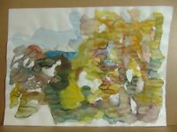 """Horst Heinen (1927-2001) """"Abstrahierende herbstliche Komposition""""  Aquarell"""