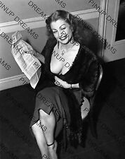 "Vintage 10"" x 8"" Photograph of Tempest Storm Re-print Insuring Her Assets pic 01"