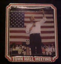 BARACK OBAMA TOWN HALL MEETING  WILLABEE & WARD COMMEMORATIVE SERIES PIN