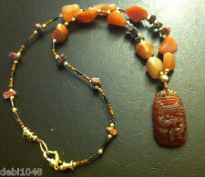 Chinese Year of the Rooster Carnelian Necklace celebrate you Dezigns By Zetroc