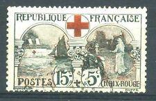 """FRANCE N° 156  """" CROIX ROUGE  15c + 5c INFIRMIERE  """" OBLITERE TB"""