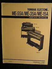 Yamaha Electone Organ ME-55A 35A 15A Service Manual Schematics Wiring Parts