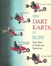Vintage Beautiful Color 1965 Rupp Dart Karts Go-Kart Ad