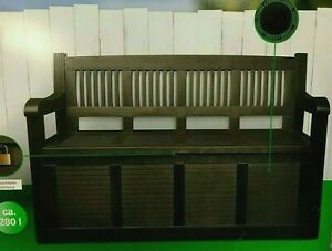 2in1 Gartenbank & Auflagenbox Kissenbox Gartenmöbel Gartentruhe 2-Sitzer Neu