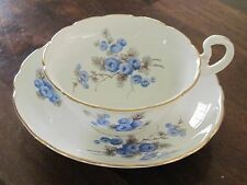 Blue Radfords bone china floral tea cup and saucer bone china