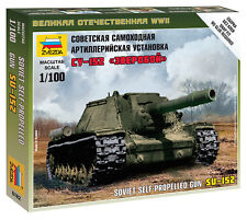 6182 SOVIET SU-152 ASSAULT GUN - ZVEZDA 15mm 1/100 RUSSIAN - WW2 FLAMES OF WAR