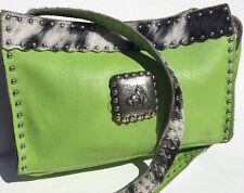 KELLY'S COWGIRL CLASSICS Handmade Women's Green Leather Cowhide  Purse Handbag