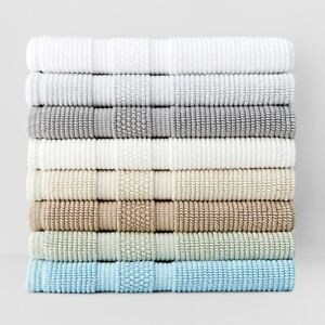Waterworks Bath Rug 'Perennial' Reversible 100% cotton Bath Rug