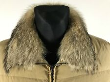 SAMAS Woman's Down Real Fur Neck Pale Brown Jacket Size UK10