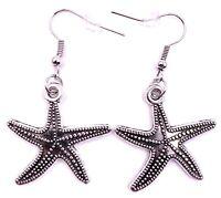 Estrella de Mar Mar Estrella de Mar Agua Pendientes Colgante Plata Metal