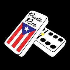 PUERTO RICO CAR DECAL STICKER DOMINOES with FLAG #162