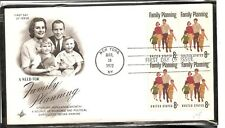 US Scott # 1455 Family Planning FDC. BLK4 . Artcraft cachet