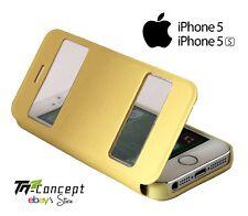 Housse / Coque / Etui à rabat - Apple Iphone 5 / Iphone 5S - JAUNE - Neuf