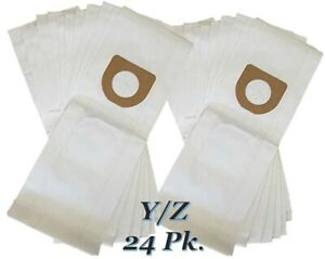 Hoover Type Y/Z Vacuum Bags 24pk Microfiltration 2 Ply System Windtunnel Tempo