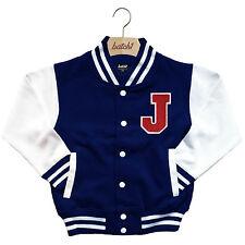 infantil Chaqueta Beisbol Varsity personalizado con verdadero Uni Letra J