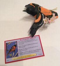 Danbury Mint Songbird Of Christmas Ornament - Baltimore Oriole Figure