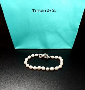 Tiffany &Co.  Pearl Bracelet with Sterling Silver Infinity Clasp.  NO RESERVE!!!