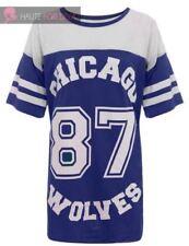 Camisetas de mujer sin marca color principal azul