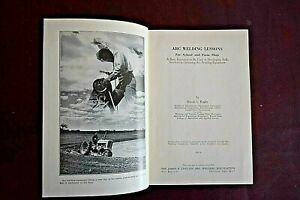Arc Welding Lessons, School, Farm, Shop, Book, 1972, Used, Textbook, Welder