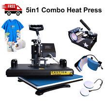 5in1 Heat Press Machine 12x15t Shirtmugplatehat Transfer Machine Swing Away