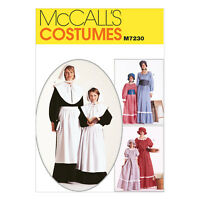 McCall's 7230 Sewing Pattern to Make Misses'/Girls' Colonial Costumes & Bonnets