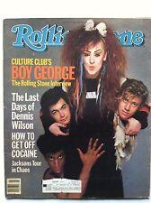 ROLLING STONE MAGAZINE BOY GEORGE CULTURE CLUB ~ DENNIS WILSON LAST DAYS 1984
