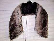 "Miss Selfridge Brown Faux Fur SHAWL/WRAP/SCARF long 51"" wide 7.5"", ~ used"