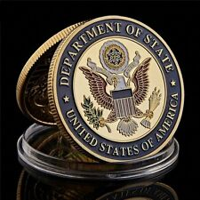 Pièce commémorative collection  en plaqué or ambassade USA paris