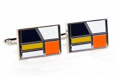 Multi-Coloured Enamel Cufflinks for Men