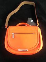BNWT MARC JACOBS Orange Glow Hand Bag With Handle, Shoulder Strap & Dustbag