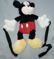 Official Mickey Mouse Plush backpack Disney Disneyland Paris  Very Rare collecta