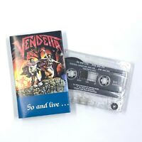 VENDETTA Go And Live...Stay and Die Cassette Tape 1987 Speed Metal Rare