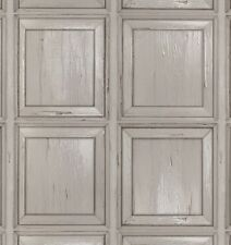Wallpaper Rasch - Wooden Panel Cladding Distressed Paint - Creamy Grey - 214529