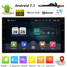 """Quad Core Android 7.1 3G WIFI FM 7"""" Double 2DIN Car Radio Stereo MP3 GPS Player"""